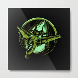 Fighter Jet Lover Gift Idea Design Motif Metal Print