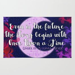 Once Upon a Time- The Lunar Chronicles Quote Rug