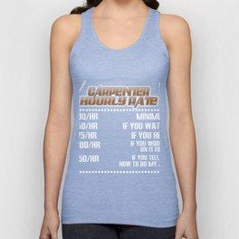 Carpenter Shirt For Dad/Grandpa. Unisex Tank Top