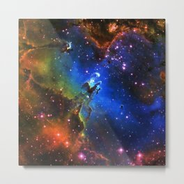 Eagle Galaxy Metal Print