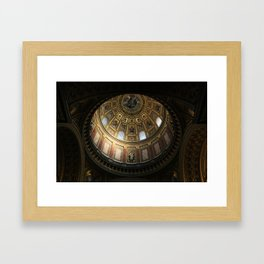 Budapest - Inside the Dome of the Cathedral Framed Art Print