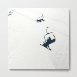 Chair lift shadow Metal Print