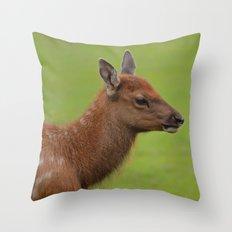 Baby Elk Throw Pillow