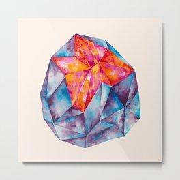Gem Rock on Peach Metal Print