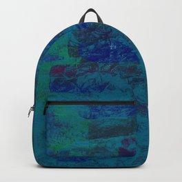 Purple Blending In Blue Backpack