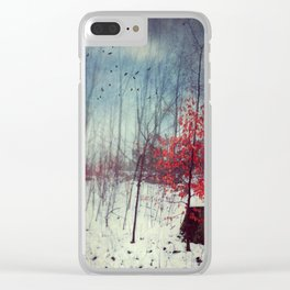 Midwinter Fantasy Clear iPhone Case