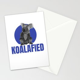 Highly Koalafied Ironworker graphic Funny design Stationery Cards