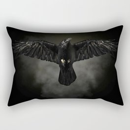 Black raven, crow flight Rectangular Pillow