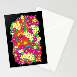 Bouquet (Black) Stationery Cards