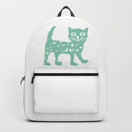 Mint cat drawing, cat drawing Backpack
