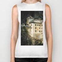 castle Biker Tanks featuring Castle by DistinctyDesign
