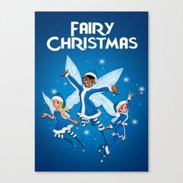 Fairy Christmas (Blue) Canvas Print