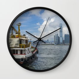 The old and the new in Hong Kong Wall Clock