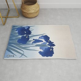 Iris flowers (1925 - 1936) by Ohara Koson (1877-1945) Rug
