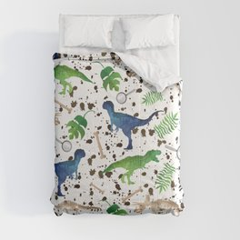 Watercolor Dinosaurs Comforters