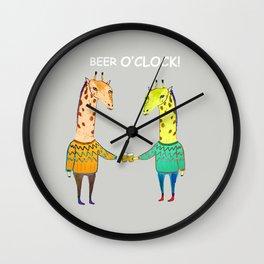 Beer Buddies Wall Clock