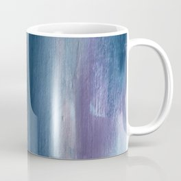 In a Blur: an abstract mixed media piece in pinks, blues, and purple Coffee Mug