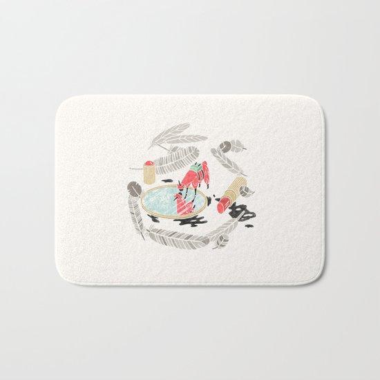 Pretty Miniunilamacorn Bath Mat