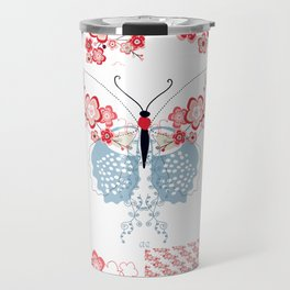 Cherry Blossom Butterfly Collection Travel Mug