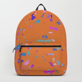 Bright Orange Terrazzo Backpack
