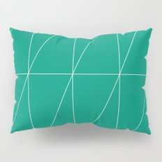 Emerald Triangles by Friztin Pillow Sham