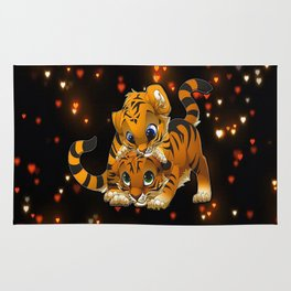 Tiger in Love Rug
