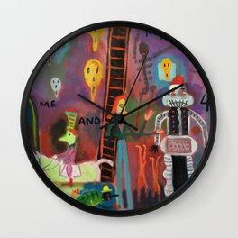 Me and my 4 walls Wall Clock