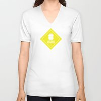 audi V-neck T-shirts featuring AIR RIDE EQUIPPED by shedpress