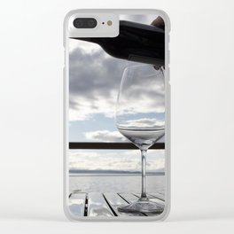 First Pour Red Clear iPhone Case