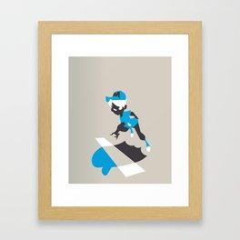 Boy Jump Framed Art Print