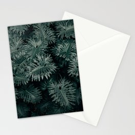 Monstera Leaves - Blue Stationery Cards