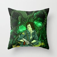 ripley Throw Pillows featuring Ripley by Ginger Breo