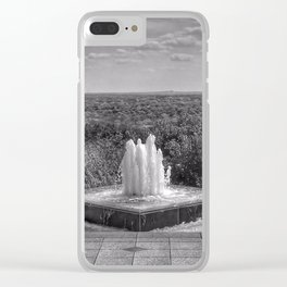 Down By The Waters Edge  - Black And White Clear iPhone Case