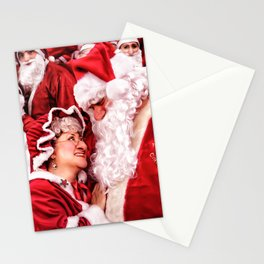 Santa Claus and Mrs. Claus Stationery Cards