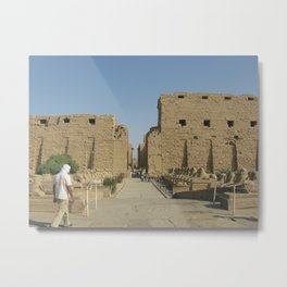 Temple of Karnak at Egypt, no. 4 Metal Print