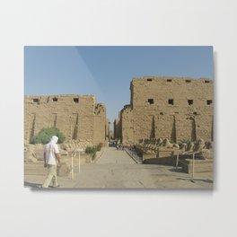 Temple of Karnak at Egypt, no. 4 Metal Print