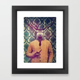 Off duty Framed Art Print