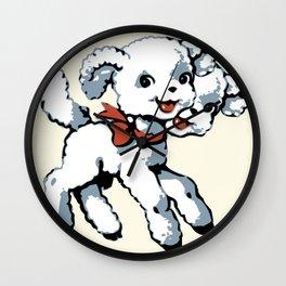 Sweet two-headed lamb Wall Clock