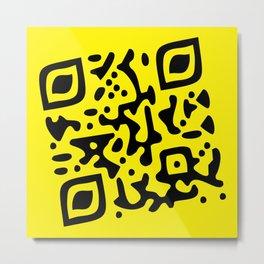 QR Clothes Yellow Metal Print