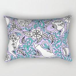 Tea Time Purple Rectangular Pillow