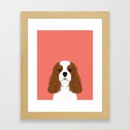 Bode - King Charles Spaniel customizable pet art for dog lovers  Framed Art Print