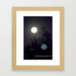 Moonlight Through the Darkness Framed Art Print
