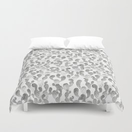 GRAY TRYPOPHOBIA, cactus pattern by Frank-Joseph Duvet Cover
