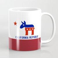 political Mugs featuring Political California Republic Democrat by NorCal