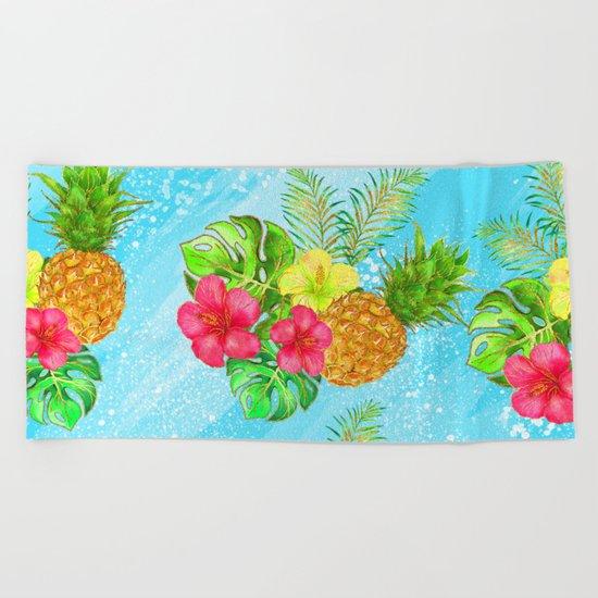 Summer Glitter #6 Beach Towel