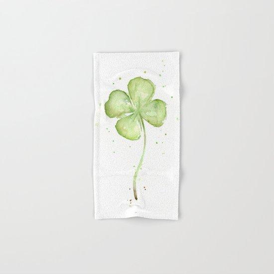 Clover Four Leaf Lucky Charm Hand & Bath Towel
