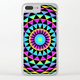20gon Rainbow Gradient Triangles Clear iPhone Case