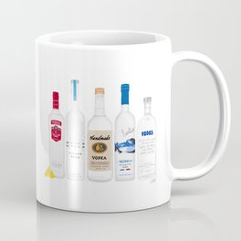 Vodka Bottles Illustration Coffee Mug