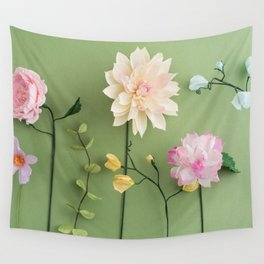 Crepe paper flowers Wall Tapestry