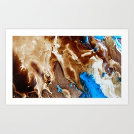 Catching Up With Each Other Art Print